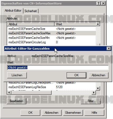 Servidor Microsoft Exchange – la tasa de utilización RAM